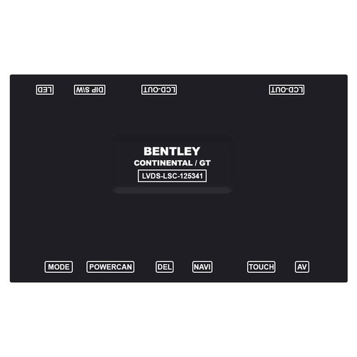Video Interface for Bentley Continental, Mulsane of 2012-2015 MY