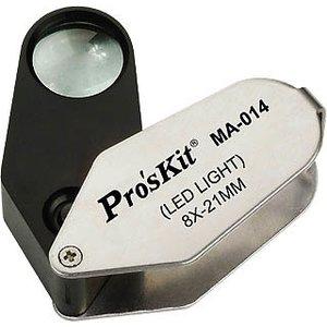 LED Illuminated Magnifier 8X Pro'sKit MA-014