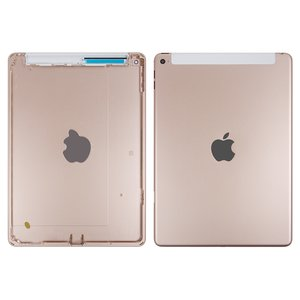 Back Cover for Apple iPad Air 2 Tablet, (golden, version 3G )
