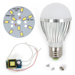 LED Light Bulb DIY Kit SQ-Q02 5730 5 W (cold white, E27), Dimmable