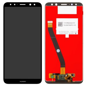 LCD compatible with Huawei Mate 10 Lite, (black, with touchscreen, Original (PRC), RNE-L01/RNE-L21)