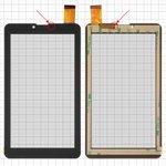 """Сенсорный экран Bravis NB751 3G; планшетов China, 7"""", 184 мм, 104 мм, 30 pin, тип 1, емкостный, без датчика приближения, черный, #HS1275 V106/FM707101KD/370-A/YLD-CEG7069-FPC-AO/MDJ M706 FPC/FHF070076-B/YDT1273-A1/QCY 706 J/XHS0700401B/P031FN10869A"""