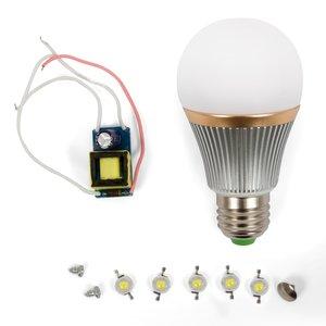 Комплект для сборки светодиодной лампы SQ-Q22 5 Вт (холодный белый, E27)
