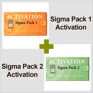 Активации Pack 1 и Pack 2 для Sigma