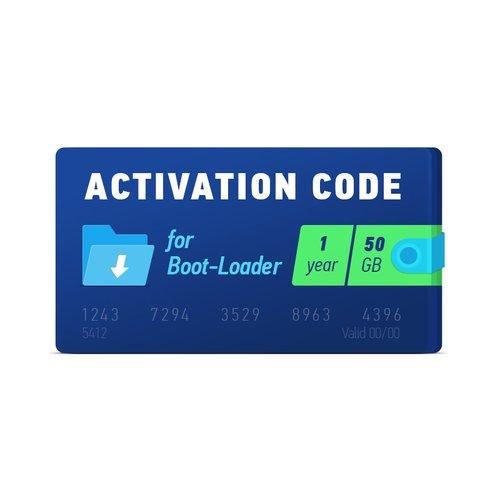 Активационный код Boot-Loader 2.0 (1 год, 50 ГБ)