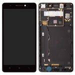 Дисплей для Lenovo A7000, черный, с сенсорным экраном, с рамкой, Original (PRC), #055-1911-02/1540312483/YT55F60B0-FPC-C