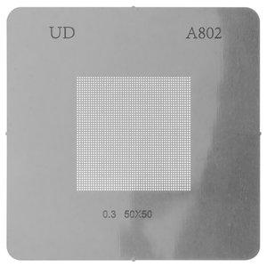 Универсальный BGA-трафарет A802, шаг 0,3 мм, 50*50
