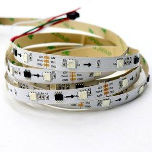 Світлодіодна стрічка RGB SMD5050, WS2811 (біла, з управлінням, IP20, 12 В, 30 діодів/м, 1 м)
