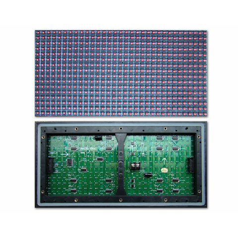 Outdoor LED Module P10 1W 320 × 160 mm, 32 × 16 dots, IP65, 6500 nt
